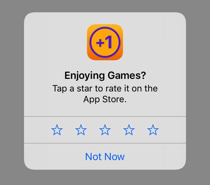Demande d'avis (requestReview) avec iOS10.3
