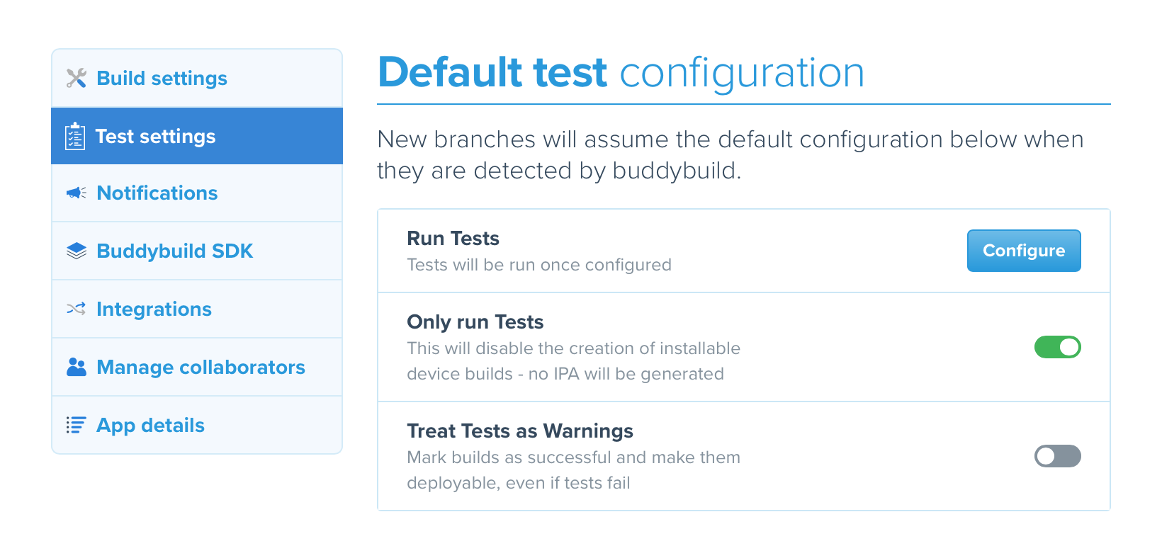 Buddybuild configuration 1