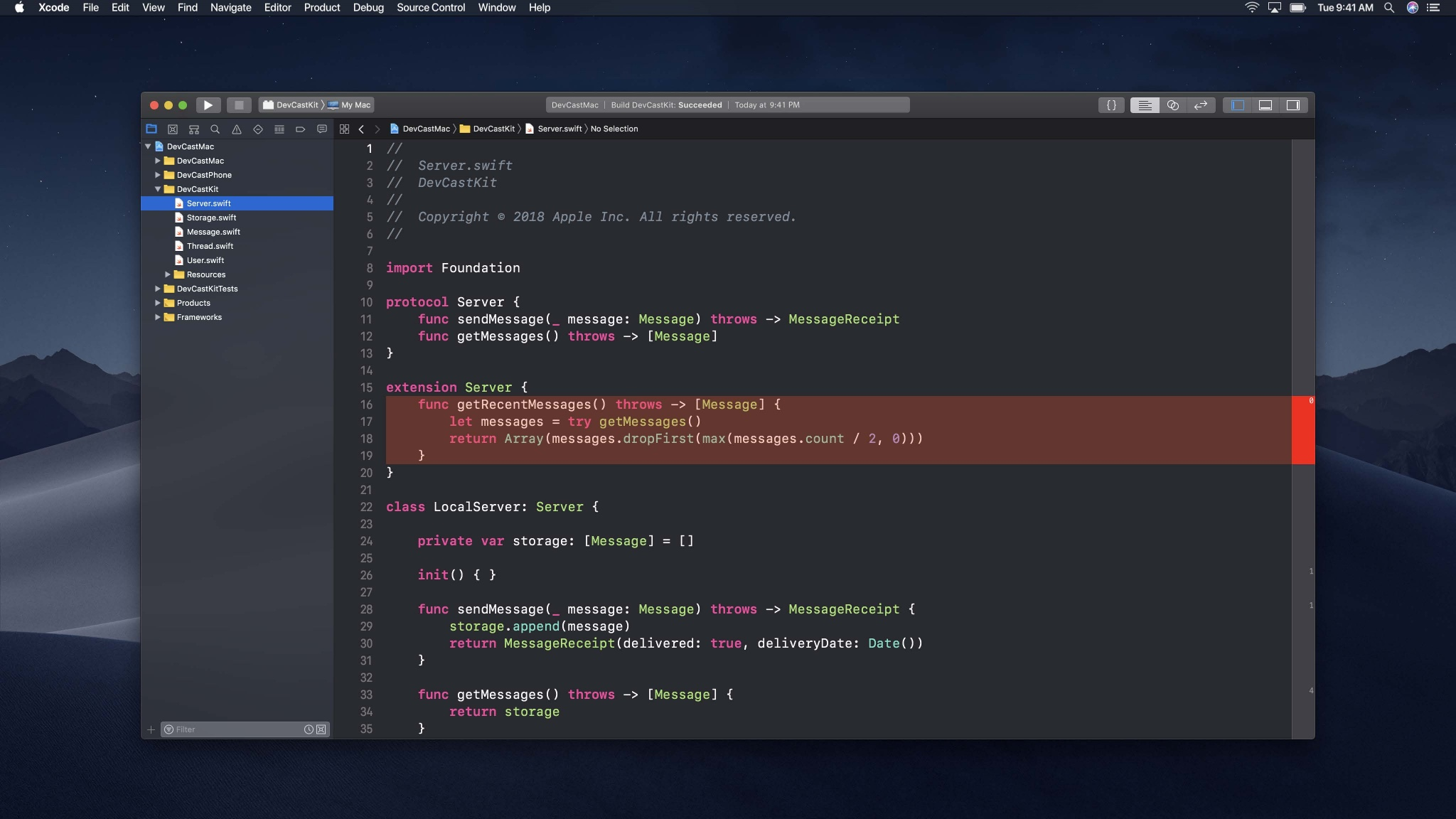 Couverture de code - WWDC 2018 session 403, image Apple