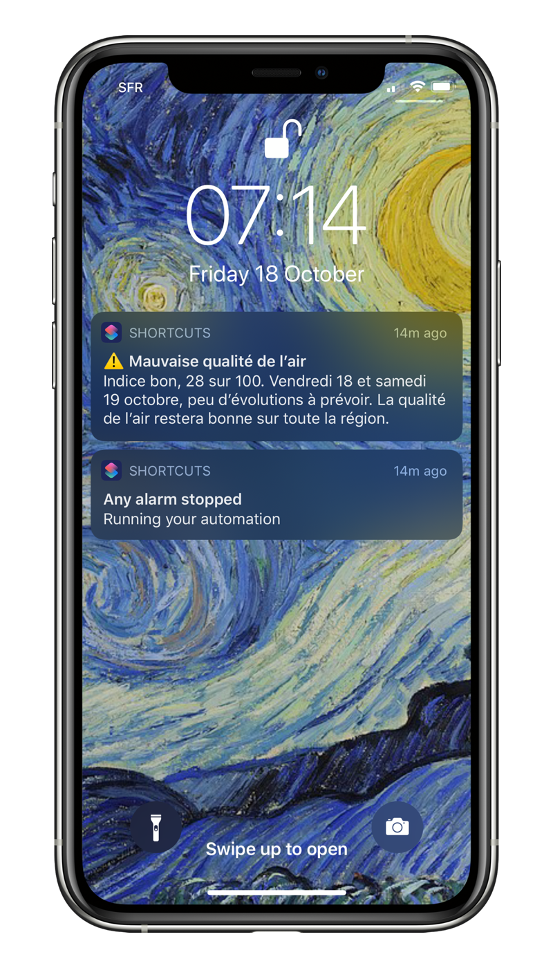 Notifications qualité de l'air