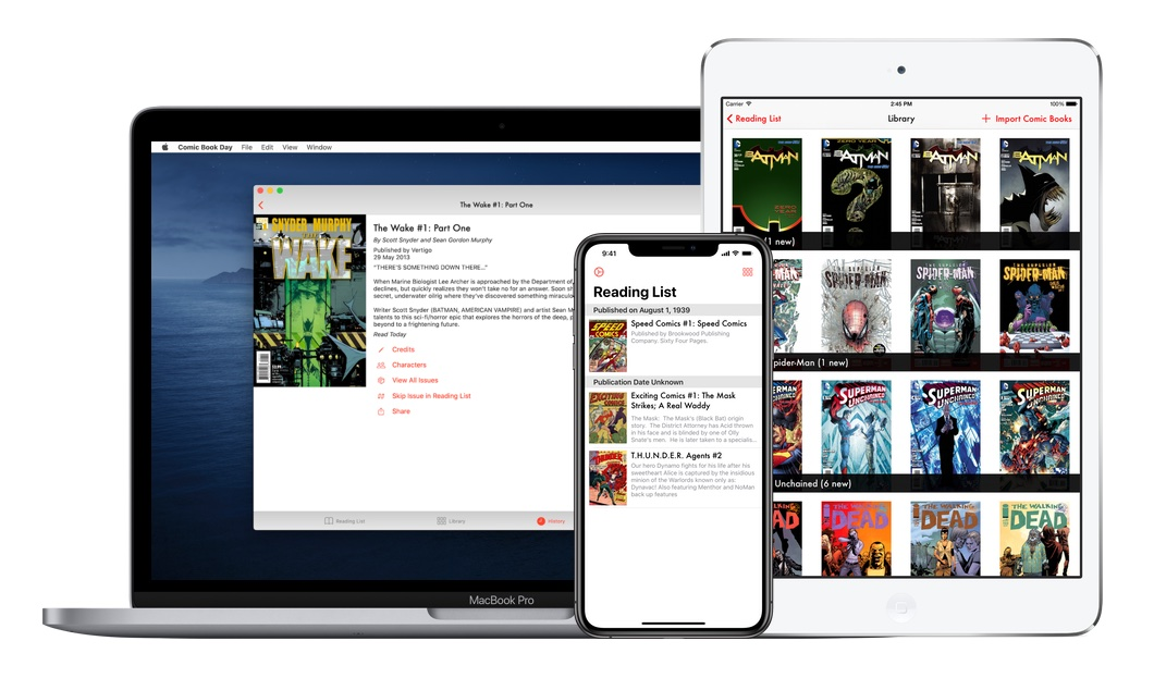 Comic Book Day pour Mac, iPhone et iPad